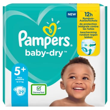 Pampers Baby Dry Junior Plus Windeln 12-17 kg, Größe 5+