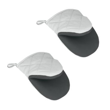 Metaltex Ofenhandschuhe aus Baumwolle, antislip, 2-teilig
