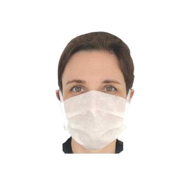 Apelt Mund- und Nasenmaske aus Faservlies, weiß, kochfest