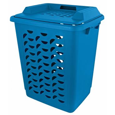 Gies ecoline Wäschebox mit Deckel, 55 Liter