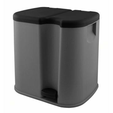 Gies ecoline Twin Abfallbehälter, 41 x 33,5 x 40 cm