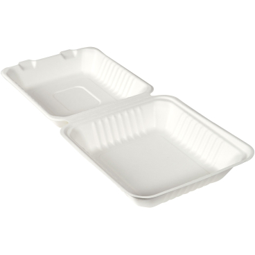 DUNI Bagasse-Burger Box, weiß