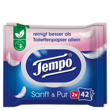 Tempo sanft & pur feuchte Toilettentücher