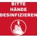 Novus Hände desinfizieren Hinweismatten, 90 x 60 cm