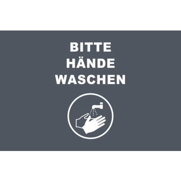 Novus Hände waschen Hinweismatten, 90 x 60 cm