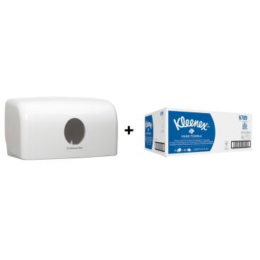 """Kimberly-Clark Aktionsset """"Händehygiene"""" Handtuchpapier + Spender"""