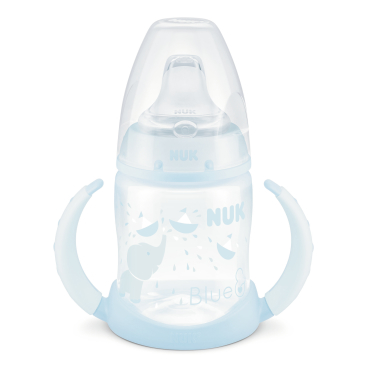 NUK Baby Blue First Choice Trinklernflasche, mit Griff