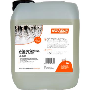 NOVADUR Gläserspülmittel Gastro F-MO3 Dekor Gläser