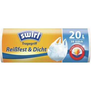 Swirl® Müllbeutel mit Tragegriffen