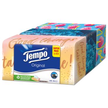 Tempo Design Edition Taschentücher Box, 4-lagig