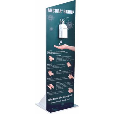 Arcora Aufsteller für Desinfektionsmittel