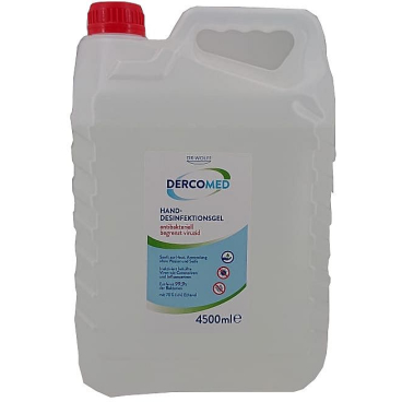 DERCOMED Hand-Desinfektionsgel, 70% Ethanol