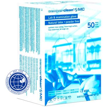 Semperclean MC Latex-Einmalhandschuhe, naturfarben