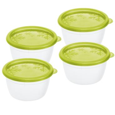 Rotho RONDO Kühlschrankdosen, grün