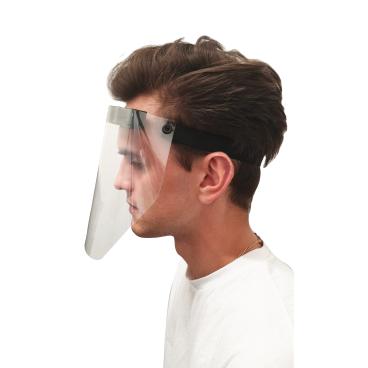 Gesichtsvisier, aus glasklarer PET-Folie