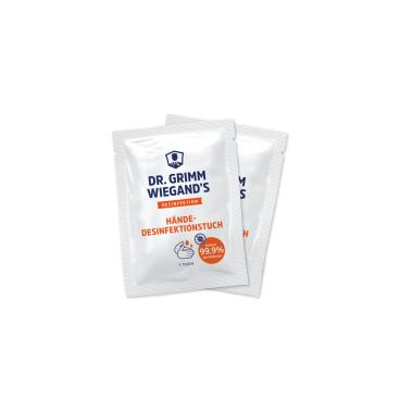 DR. GRIMM WIEGAND`S Händedesinfektionstücher, 80% Ethanol