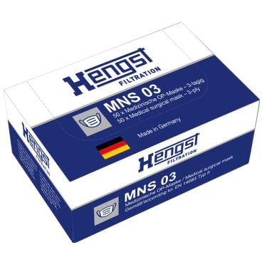 Hengst MNS03 Medizinischer Einmalmundschutz nach EN 14683 Typ II