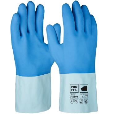 Fitzner Super Blue Latex-Chemikalienschutzhandschuh