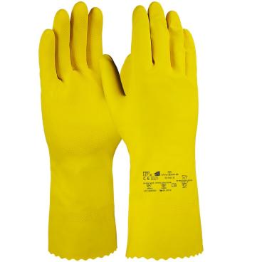 Fitzner Latex Haushaltshandschuh, gelb