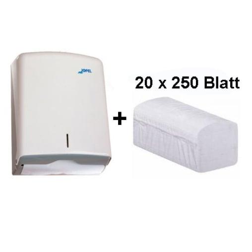 Jofel Handtuchpapierspender Azur + Handtuchpapier