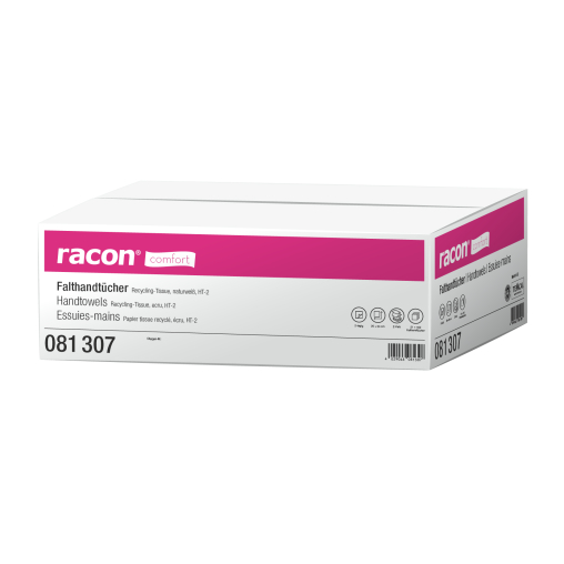 racon® comfort Falthandtuchpapier, 2-lagig, Z-Falz, weiß