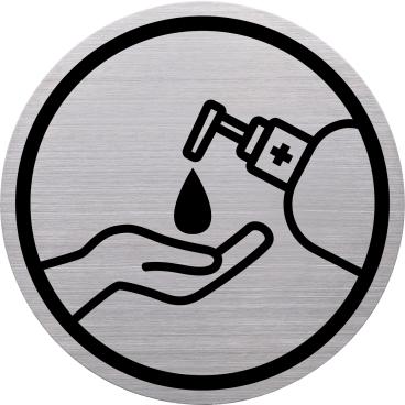 """Helit """"the badge"""" Hände desinfizieren-Piktogramm"""