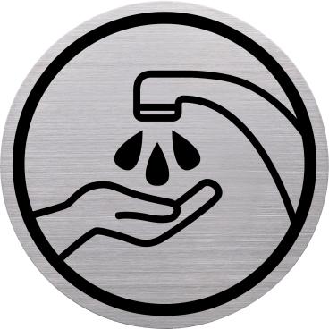 """Helit """"the badge"""" Hände waschen-Piktogramm"""