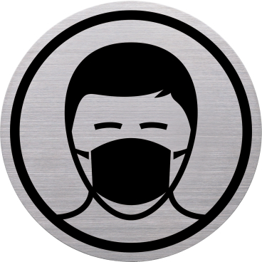 """Helit """"the badge"""" Mundschutzpflicht-Piktogramm"""