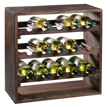 Kesper Weinflaschen-Regalsystem, braun