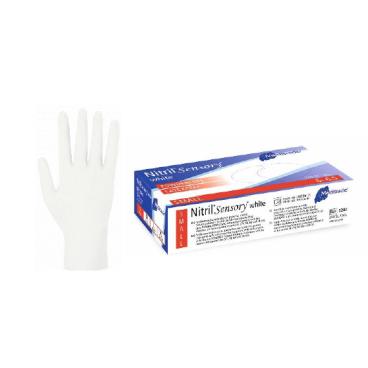 Meditrade Nitril Sensory® Untersuchungshandschuh, naturweiß