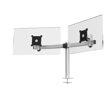 DURABLE Monitor Halterung, 2 Monitore, Tischdurchführung