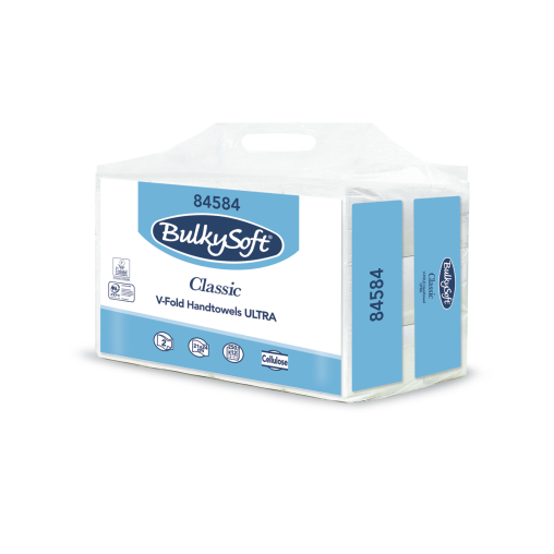 BulkySoft® Classic Papier-Handtücher V-Falz, 2-lagig
