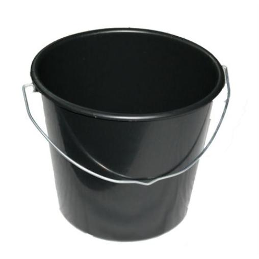 Baueimer 12 Liter schwarz
