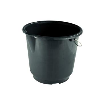 Baueimer 15 Liter schwarz