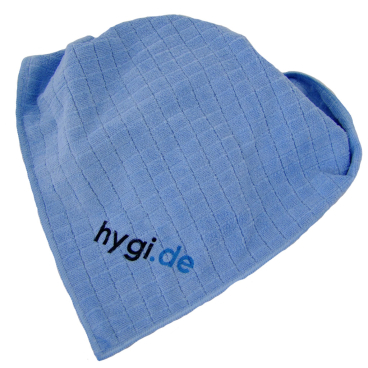 MEGA Clean Professional Mikrofaser Universal- und Bodentuch 1 Stück, Farbe: blau, mit hygi.de Logo