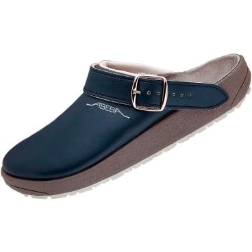 ABEBA Leder-Pantoletten blau