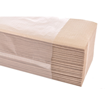 Papierhandtücher 25 x 23 cm, 1-lagig 1 Karton = 5.000 Blatt, natur-hell