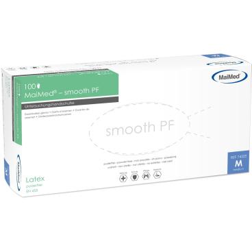 MaiMed® - smooth PF Einmalhandschuhe Latex 1 Packung = 100 Stück, Größe S