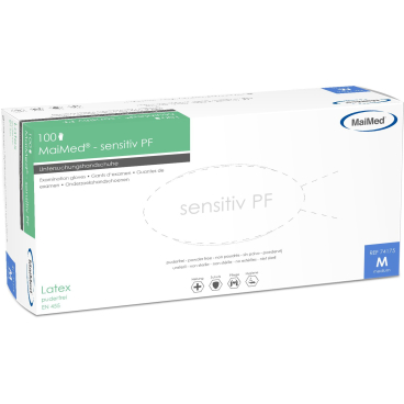 MaiMed® sensitiv PF Einmalhandschuhe, Latex
