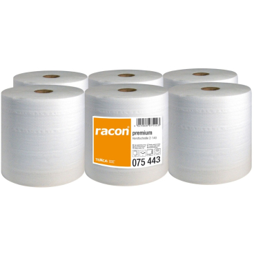 racon® premium Handtuchrollen, 20 cm x 140 m, 2-lagig, hochweiß