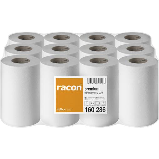 racon® premium Handtuchrollen 20,3 cm x 34 cm, 2-lagig, hochweiß