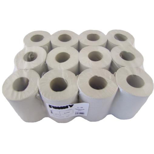 Papierhandtuchrolle, 20 cm, 1-lagig, mini, weiß