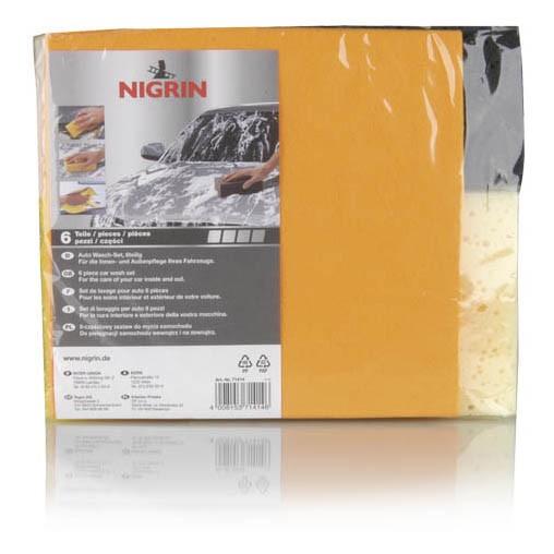 NIGRIN Auto Wasch-Set, 6-teilig