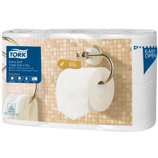 Tork Kleinrollen Toilettenpapier T4 Premium, 4-lagig, weiß