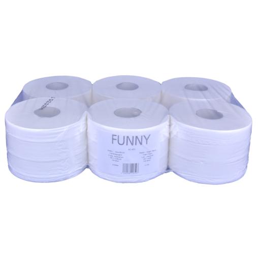 Jumbo-Einzelblatt Toilettenpapier, 2-lagig
