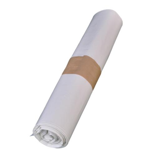 Müllbeutel weiß, ca. 90 Liter, 63 cm x 85 cm
