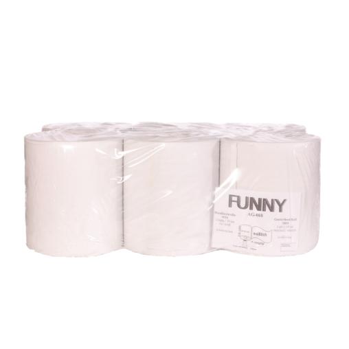 Papierhandtuch-Rolle, 1-lagig, weisslich