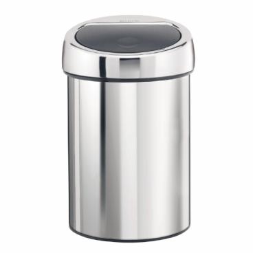 Brabantia NEWICON Touch Bin Wand-Abfallbehälter, 3 Liter Farbe: Brilliant Steel