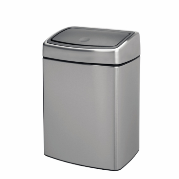 Brabantia Touch Bin Abfallbehälter, 10 Liter, rechteckig