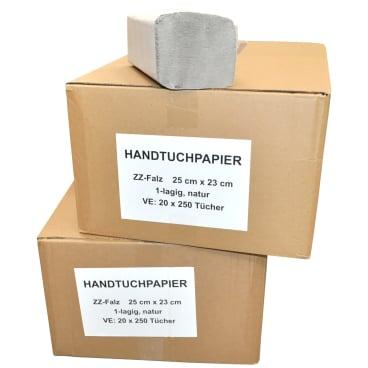 Papierhandtücher 25 x 23 cm, 1-lagig, natur-hell